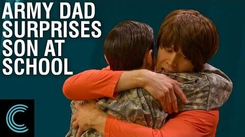 Army Dad Surprises Son at School