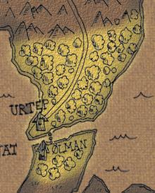 Woods of urtep map