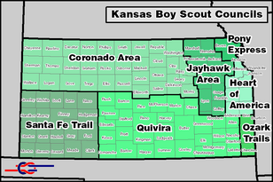Kansas bsa map