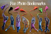 Fun photo bookmarks