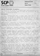 SCP-714 Document