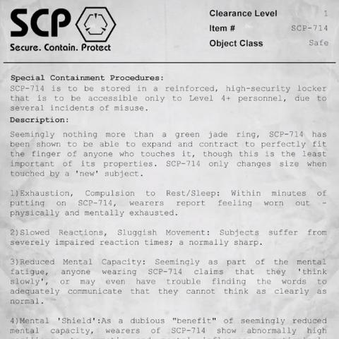 <b>SCP-714'</b>s document