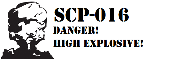 Scp-016 container label