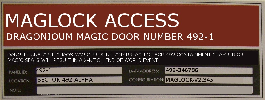 Maglock | SCP: Containment is Magic Wiki | FANDOM powered by