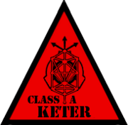 Scp foundation keter (class A) symbol warning