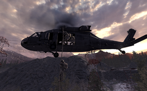UH-60 deploying Marines All In COD4