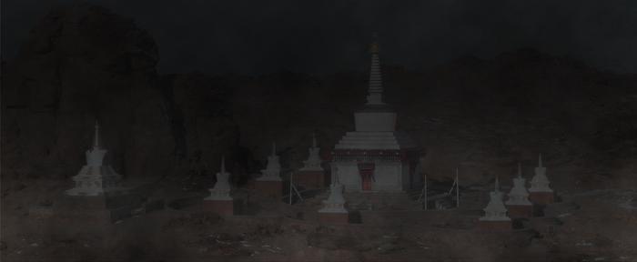Demchig Monastery 27 plus fog