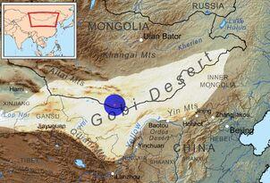 Gobi desert map plus zones