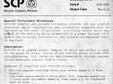Документы об SCP объектах