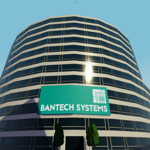 Bantech Systems HQ next to station.