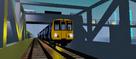 Class 508 departing from Eden Q.
