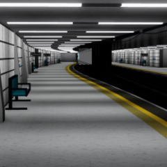 Sneak Peek of upgraded Leighton City platforms.