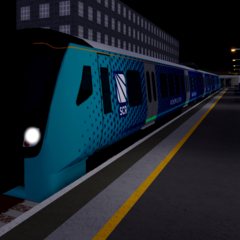 Class 730 ready to depart from <a href=