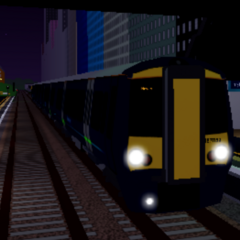 Legacy Class 387 during its last moments on the <a href=