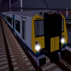 Class 458/5 number 458547 at the pre-<a href=