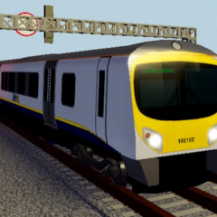 The former livery legacy Class 185 #185165 for <a href=