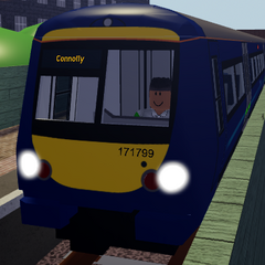 Class 171 in its old livery.