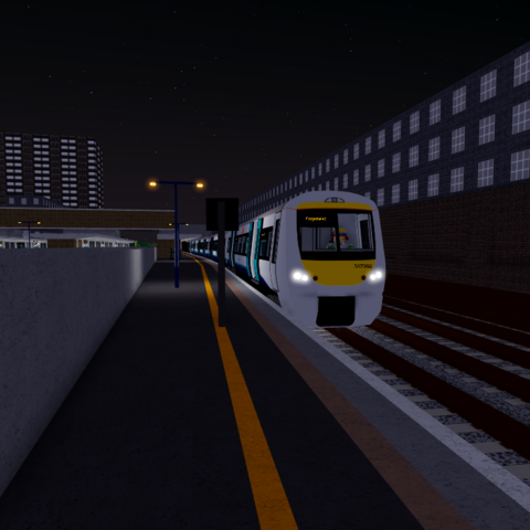 Class 357 #357055 stands at Bodin with a service to <a href=