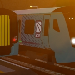 Class 730 passing each other at <a href=