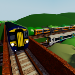 Class 387 along with other trains from the Electrostar familly.