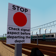 New signage reminding how shunter signals work.