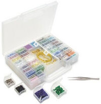 Beadalon - Jewelry - Bead Organizer - 52 Compartment Carrying Case with Bead Scoop and Tweezers, BRAND NEW