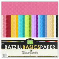 Bazzill Basics - Dotted Swiss - 12 x 12 Cardstock Pack - 60 Sheets - Assorted