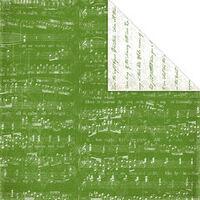 Creative Imaginations - Art Warehouse by Danelle Johnson - Mistletoe Collection - Christmas - 12 x 12 Double Sided Paper - Mistletoe Song