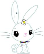 Stephenie Bunny (with a three bladed saber staff)