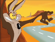 Wile E. Coyote with pieces of cake by ChannelFiveRockz