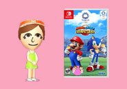Mika Kanai with of Mario & Sonic at the Olympic Games Tokyo 2020