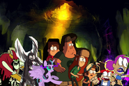 Lord Hater, Lord Wander and Princess Twivine Sparkle Chase Dipper, Mabel, Soos, Wendy, Ko and Enid