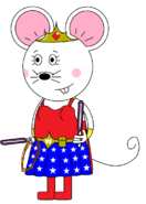 Wonder Mouse Girl (with two purple lightsabers)
