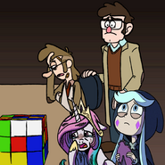 MLPCV - Sad Princess Celestai Moon Butterfly McGucket and Ford Pines