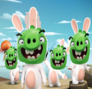 Pigs (Angry Birds) As Raving Rabbids