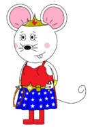 Wonder Mouse Girl (with two lightsabers)