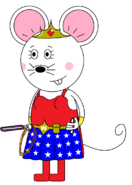Wonder Mouse Girl (with two lightsabers) (one purple)