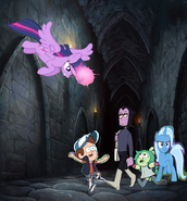 MLPCV - Twilight saves Dipper from Professor Venamus Fink and Trixie