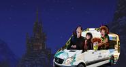 Dracula Mavis Jonathan and Dennis in Car Arrival Castle