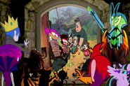Grim and Hildy Gloom, Vlad, Nicolai, Mitch, Lord Hater, Lord Wander, Princess Twivine Sparkle and Langouste watch Ko and Enid Rescue Dipper, Mabel, Soos and Wendy