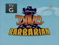 Dave the Barbarian Title Card