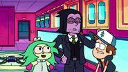 Professor Venomous and Fink Kidnap Dipper