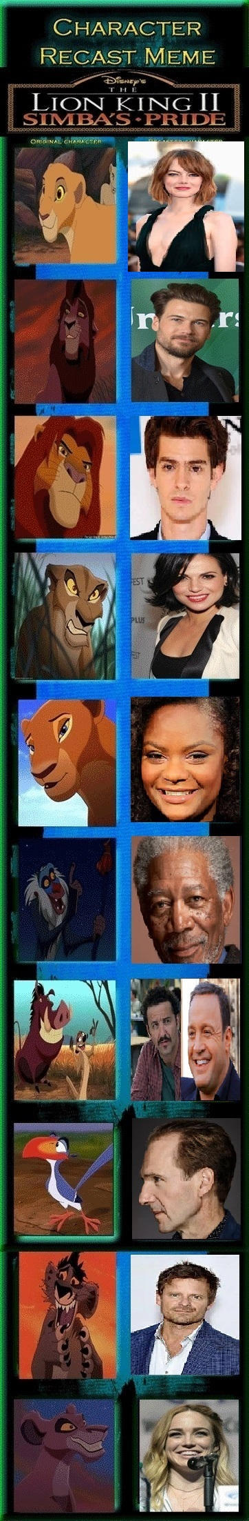 live action lion king ii  simba u0026 39 s pride recast by