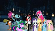 Twilight Wander Sylvia Grim Reaper Applejack Pinkie Pie Rainbow Dash Rarity and Fluttershy
