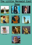 The Little Mer-Princess Cast Meme