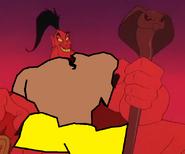 Genie Jafar as Giant Yellow Monkey.