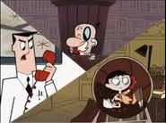 Professor Utonium mad with Miss Keane