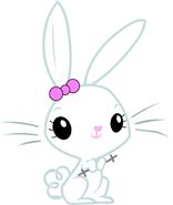 Lillian Bunny (with a three bladed lightsaber.