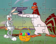 The Puzzle of Bugs Bunny and Foghorn Leghorn with Easter Eggs by ChannelFiveRockz