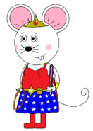 Wonder Mouse Girl (with two lightsabers) (other purple)